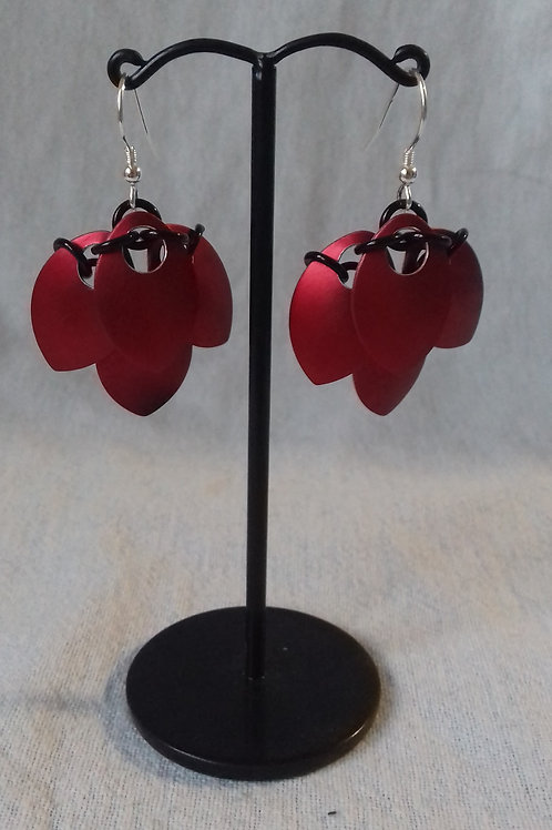 Scarlet Scalemaille Earrings