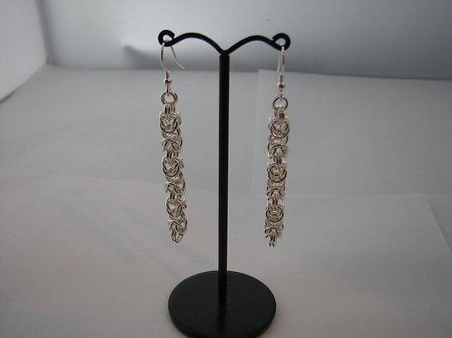 6mm Long Byzantine Earrings