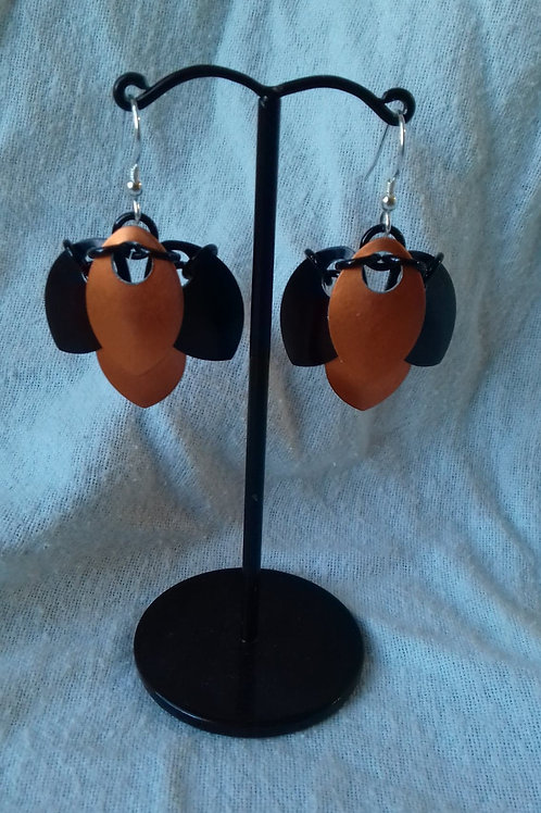 Halloween Scalemaille Earrings