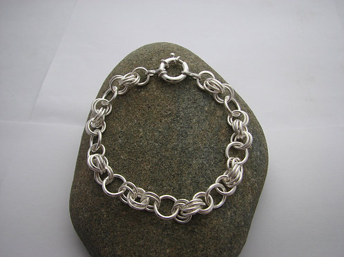 8mm Double Spiral Link Bracelet
