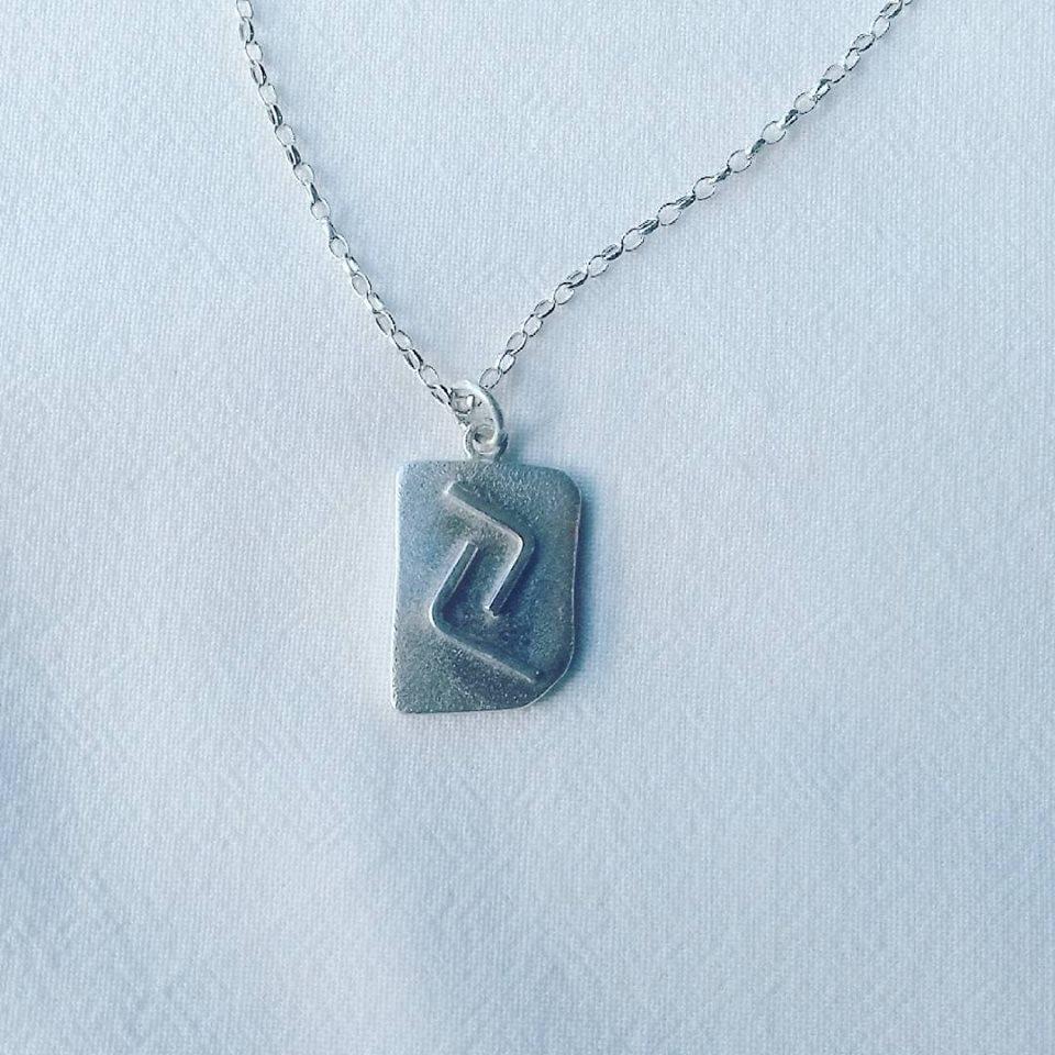 Sterling Silver Viking Rune Pendant