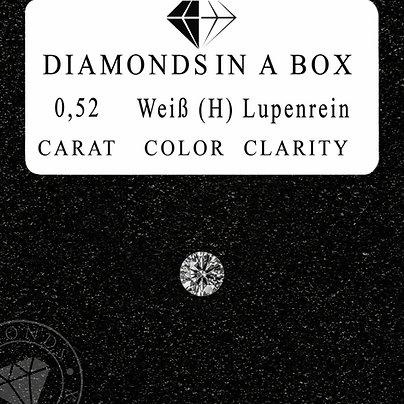 0,52 Karat Weiß (H)Lupenrein