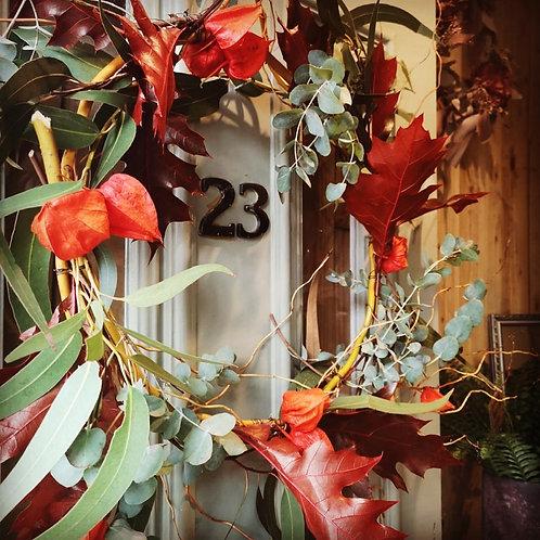 Dried Autumnal Wreath