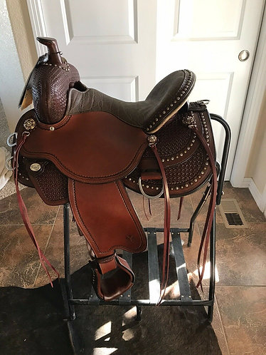 """New Circle Y Reno Flex2 Trail Saddle 15"""" Seat New Style For 2020"""