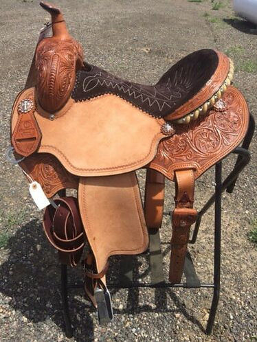 New Custom Reinsman Charmayne James Record Breaker Barrel Saddle