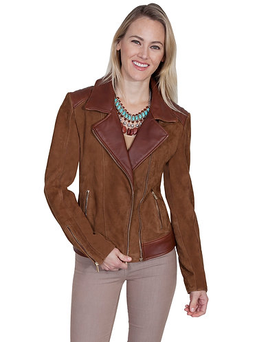 Scully Leather & Suede Motorcycle Jacket