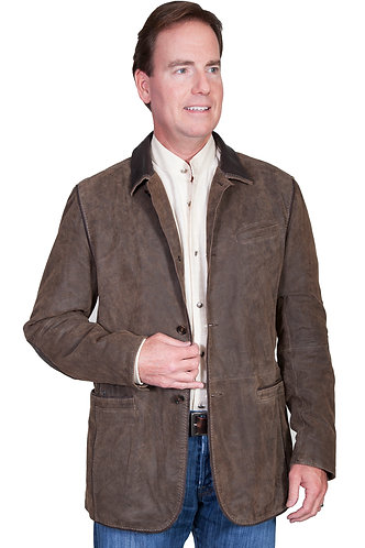 Scully Brown Washed Lamb Blazer