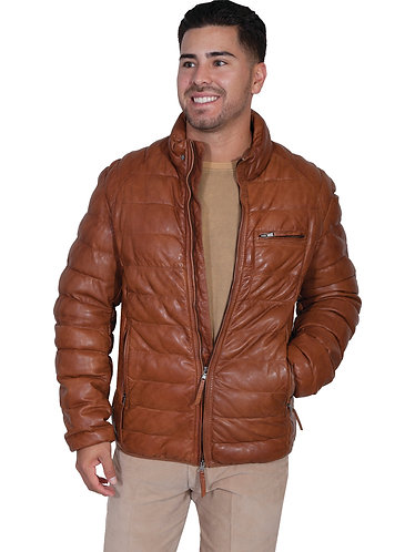 Scully Ribbed Leather Jacket