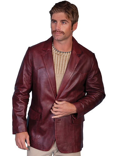 Scully Black Cherry Lambskin Blazer