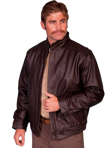 Scully Top Grain Calf Zip Front Leather Jacket