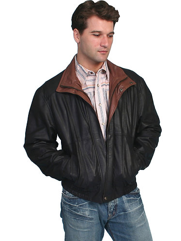 Scully Black Featherlite Jacket with Double Collar