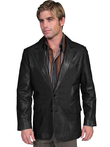 Scully Black Lambskin Blazer