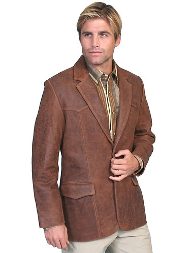 Scully Brown Lambskin Blazer