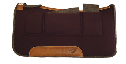 "Diamond Wool Contoured 1/2"" Pressure Relief Shim Pocket Pad 30x30 Square Tan"