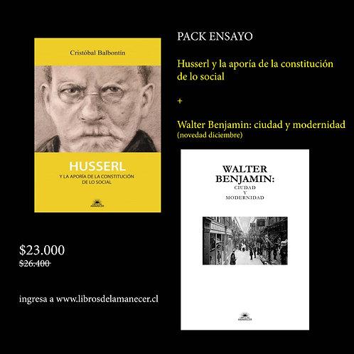Pack Husserl +Walter Benjamin: ciudad y modernidad