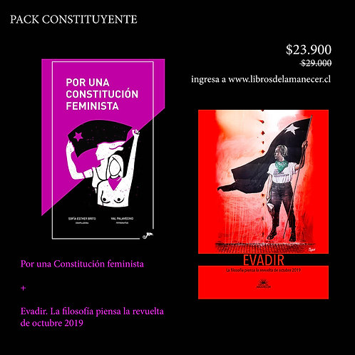 Pack Por una Constitución feminista + Evadir
