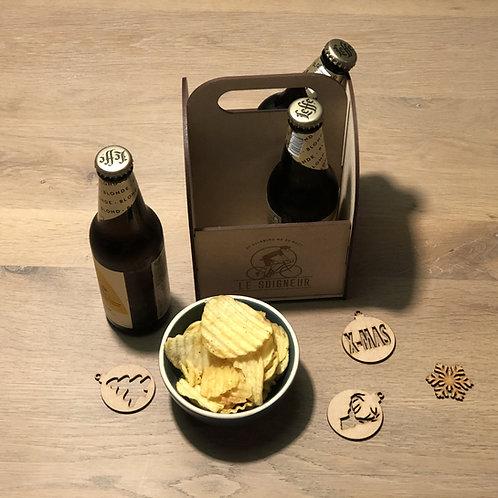Houten bierkratje met eigen logo