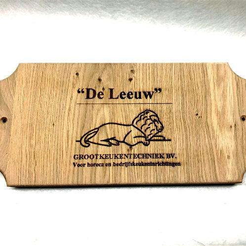 Eikenhout plaquette gepersonaliseerd