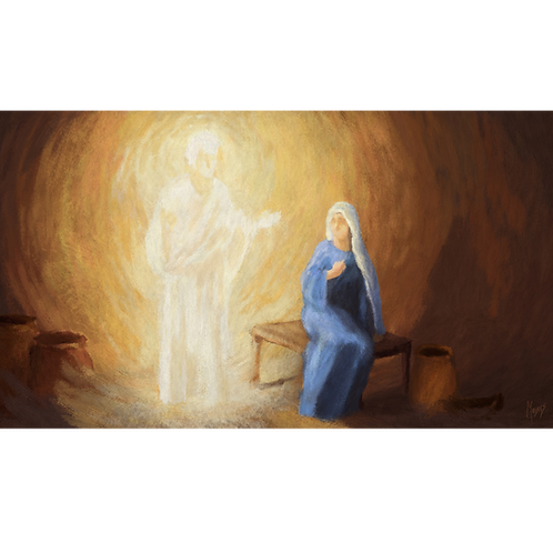 Gabriel and Mary: Digital Art for Video Display