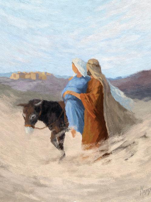 To Bethlehem: 8x10 Digital Art for PRINT