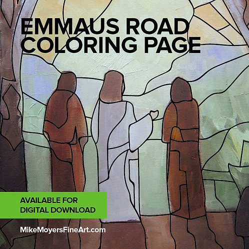 Emmaus Road Coloring Page & Meditation Guide