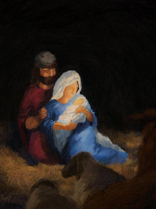 The Birth of Jesus: 8x10 Digital Art for PRINT