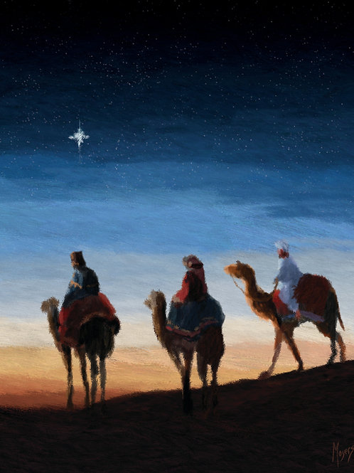 Wise Men: 8x10 Digital Art for PRINT