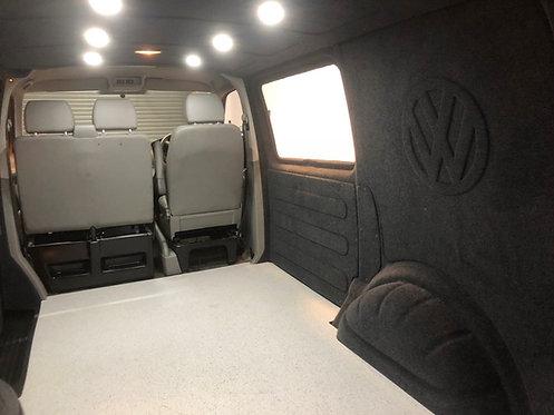 DIY kit, VW Transporter T5, T6 carpet lining, panels ready to fit