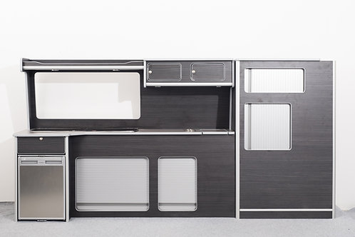 Hacienda Black VW Transporter T5/T6 Long Wheel Base full side kitchen