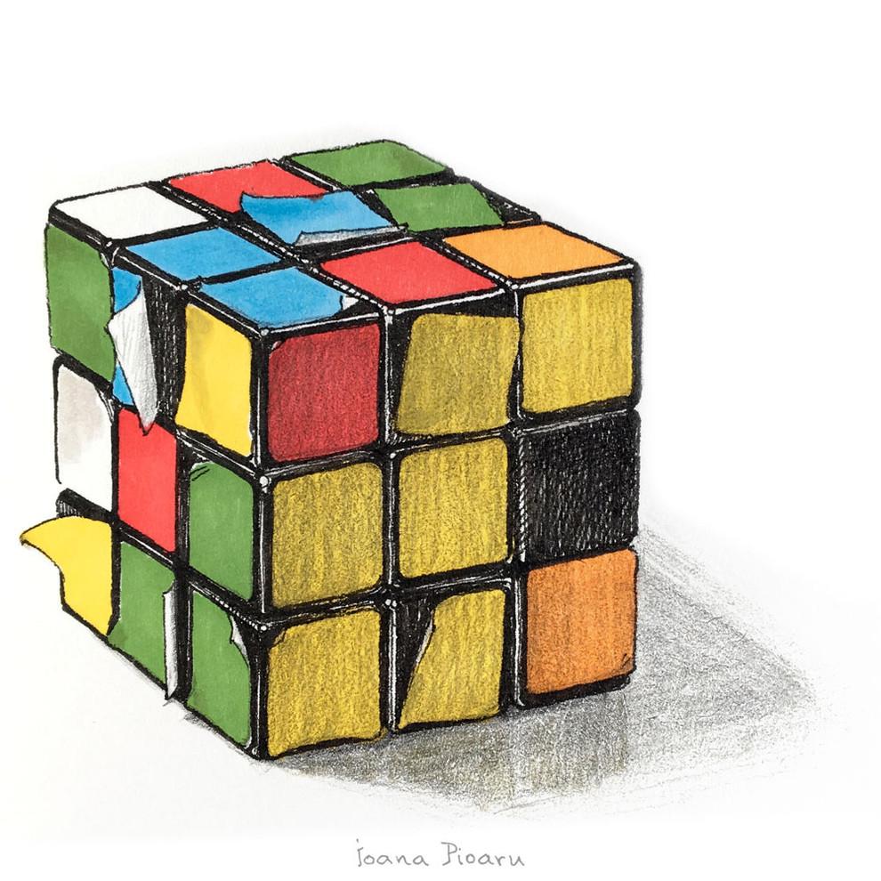 This Rubik's Cube Has Seen Better Days