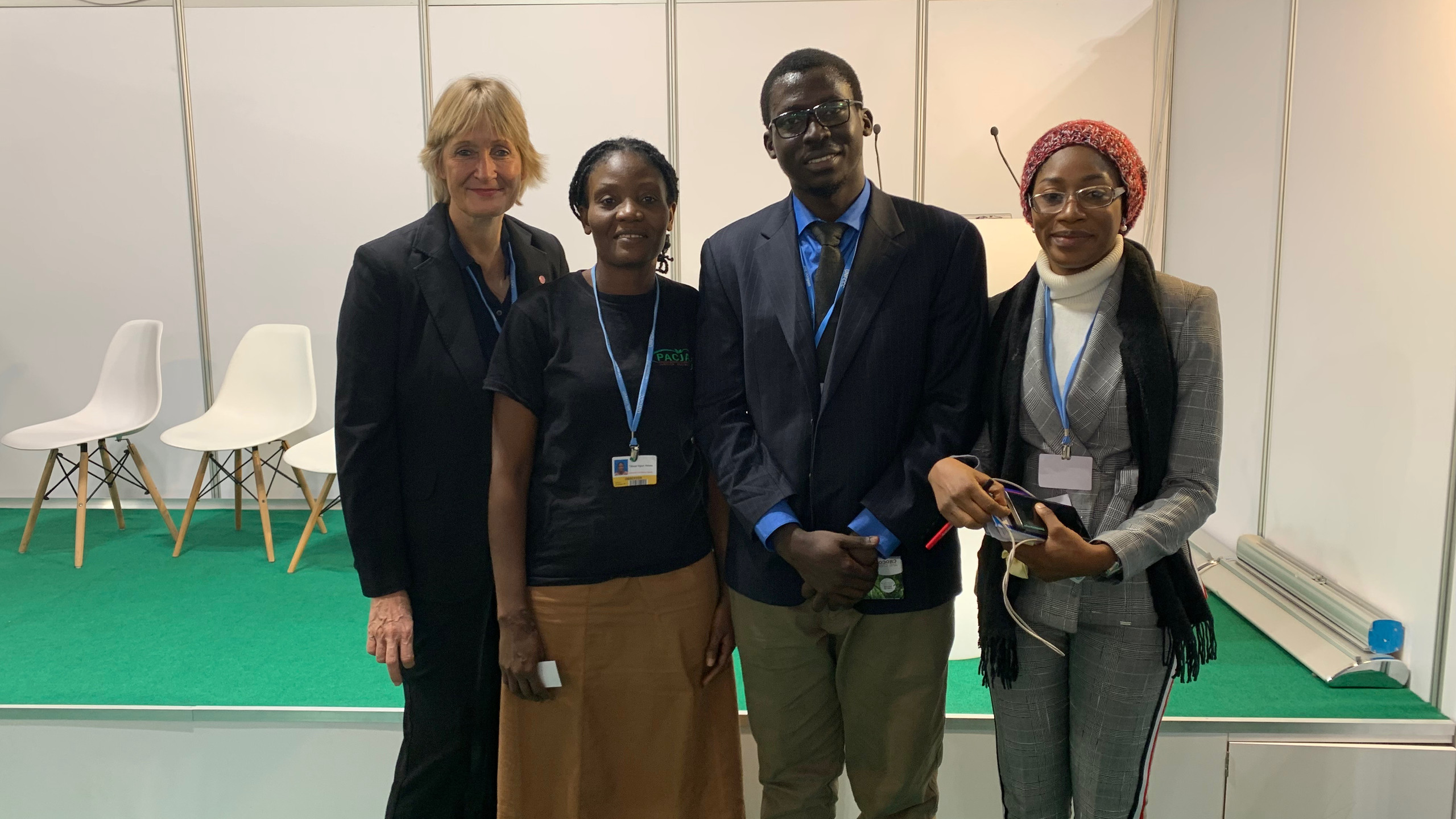 Panel members at Nigeria Pavilion