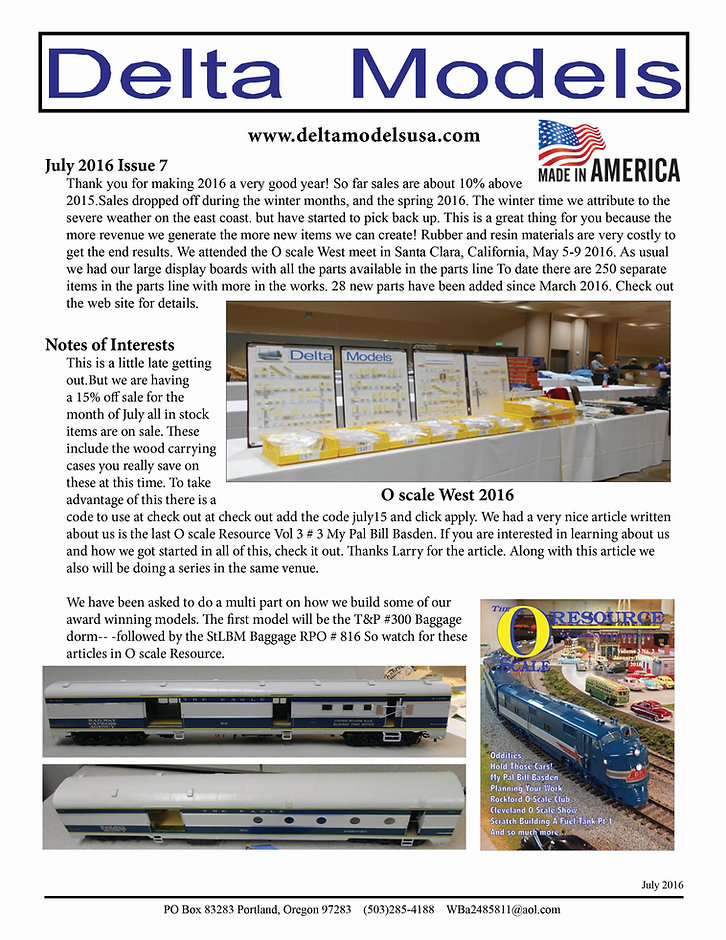 Delta Models display at O scale West 2016