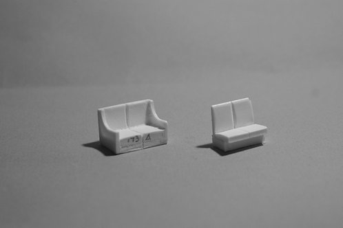 "DM-174 Two Cusion Bench Seat  38""W x 36""H"