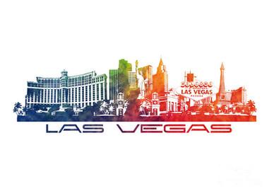 Las Vegas Watercolor Art