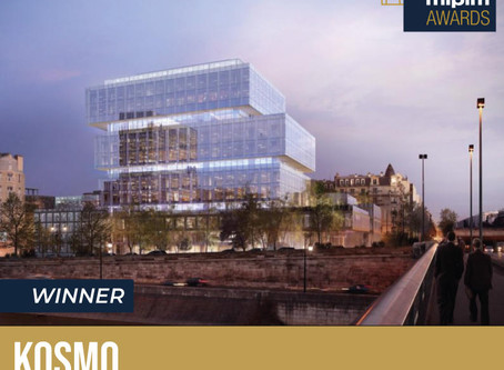 "Kosmo remporte le MIPIM Awards 2019 dans la catégorie ""Best Refurbished Building »."