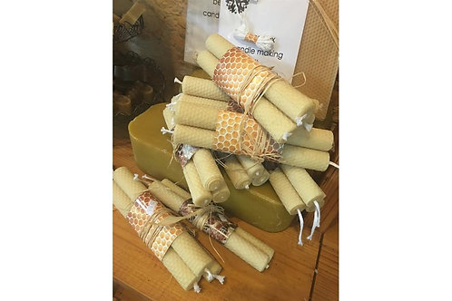 Pack of 3 - Hand Rolled Pure Beeswax Candles