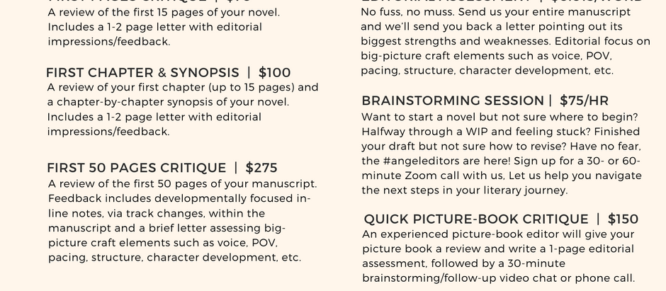 Introducing editorial services on a budget