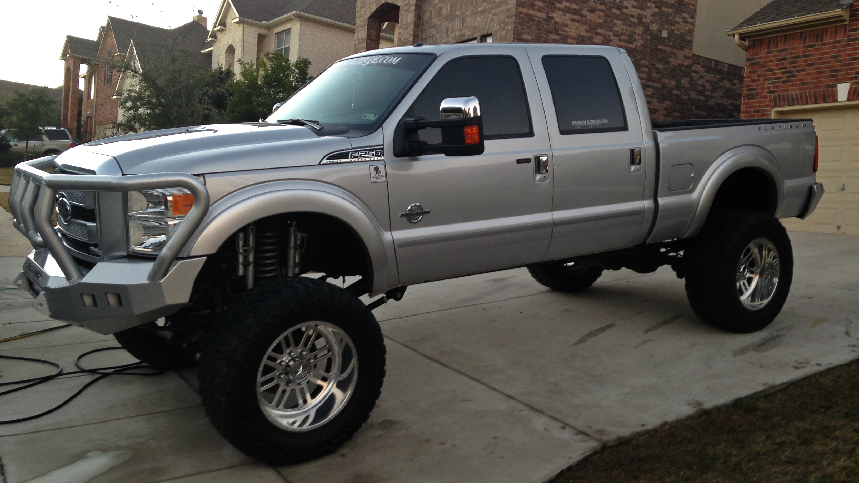 14 F250 Platinum 12 Susp, 40x1550x22 Toyo MT on AMF 22x14 wheels