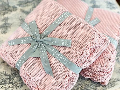Baby Blanket - Organic Cotton Mini Moss Stitch