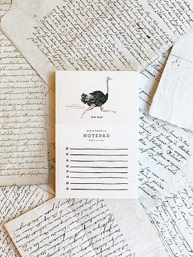 Ostrich Checklist Notepad