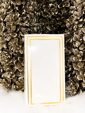 Matchbox - White with Gold Frame