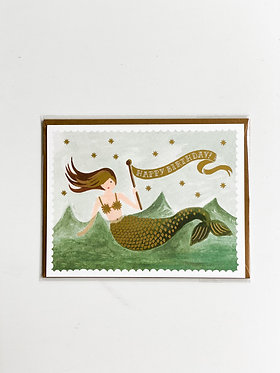 Happy Birthday - Vintage Mermaid