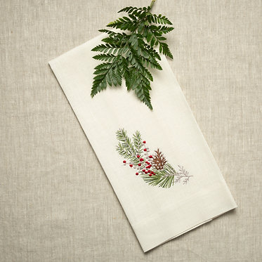 Tea Towel - Natale Sprig