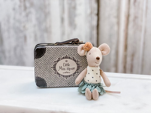 Little Sister - Little Miss Mouse in Suitcase