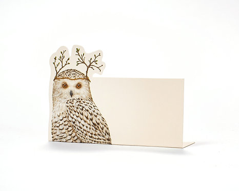 Place Card - Winter Owl