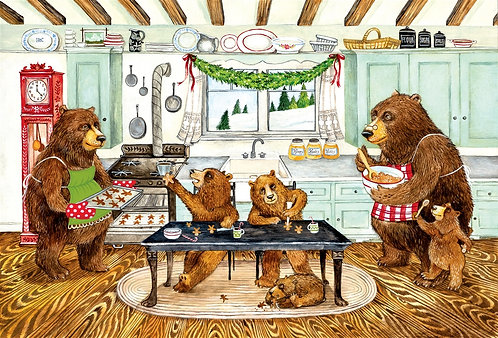 Placemat - Gingerbread Bears