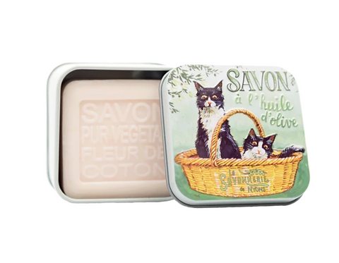 Soap in a Tin - Chat Noir & Blanc