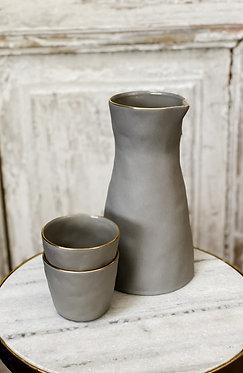 Gold Rim Stoneware - Grey
