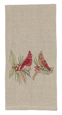 Tea Towel - Christmas Cardinals