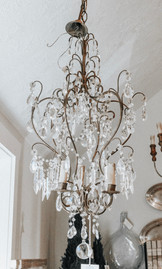 Antique French Style Crystal Chandelier